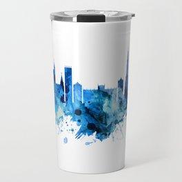 Bristol England skyline Blue Travel Mug