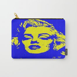 Marilyn yellow blue Carry-All Pouch