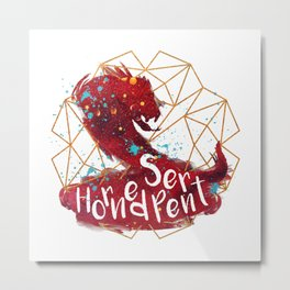 Horned Serpent Metal Print