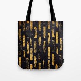 Gold Foil Paint Brush #4 Tote Bag