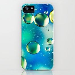 Macro Water Droplets  Aquamarine Soft Green Citron Lemon Yellow and Blue jewel tones iPhone Case