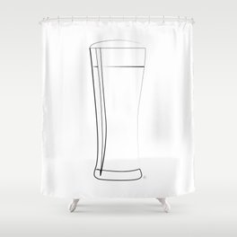 """"""" Kitchen Collection """" - Glass Of Beer Shower Curtain"""