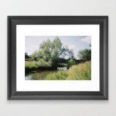 Bridge over River Bure, Ingorth, Norfolk Framed Art Print