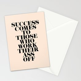 Success Comes to Those Stationery Cards