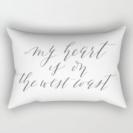 My Heart is on the West Coast Rectangular Pillow