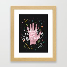 Love Handmade Framed Art Print