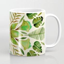 Tropical Symmetry – Olive Green Coffee Mug