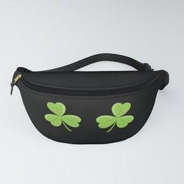 Funny Irish Shamrocks Boobs graphic Celtic Saint Patrick Day Fanny Pack