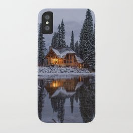 Cabin in Winter Woods (Color) iPhone Case