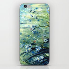 Forget me not flowers iPhone Skin