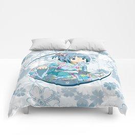 Sayaka Miki - Yukata edit. (rev. 1) Comforters