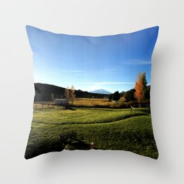 Sunrise with Mount Sopris - Glenwood Springs, CO Throw Pillow