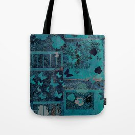 butterflies_I turquoise Tote Bag
