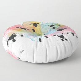 Flock of Many Colors Floor Pillow