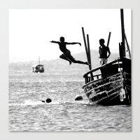 dancing Canvas Prints featuring Dancing by Eliel Freitas Jr