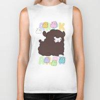 alpaca Biker Tanks featuring Little alpaca by Lady Cibia