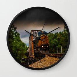 Storm Train Wall Clock