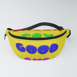 Laugh Cry Good Bye - Knitting Style Fanny Pack