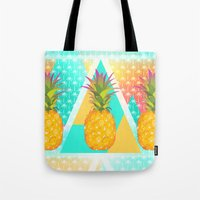 pineapples Tote Bags featuring Pineapples by Ornaart