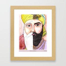Two Gurus Framed Art Print