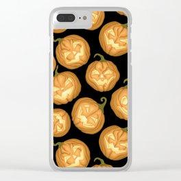Halloween pumpkins Clear iPhone Case