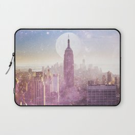 I LOVE PINK NEW YORK CITY SKYLINE - Full Moon Universe Laptop Sleeve
