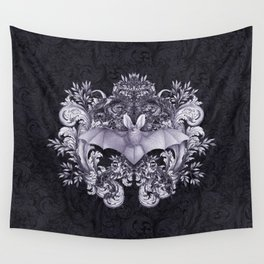 Bat and Swirls Wall Tapestry