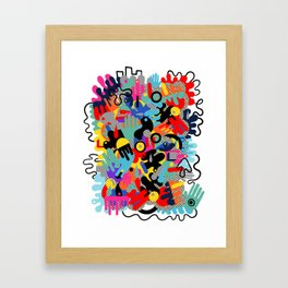 Color blobs 002 Framed Art Print