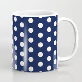 Navy Blue Polka Dots Minimal Coffee Mug