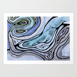 bluemuscle Art Print