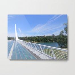 Sundial Bridge Metal Print