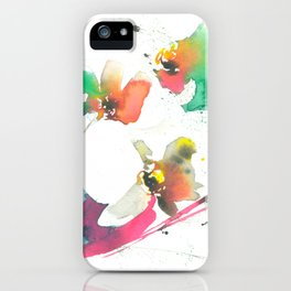 Abstract Orchids in Watercolor iPhone Case