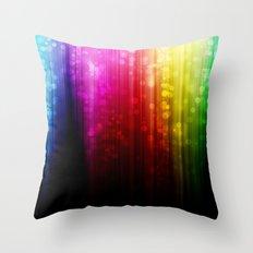 Rainbow Rain. Throw Pillow