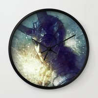 king Wall Clocks featuring King by Anna Dittmann