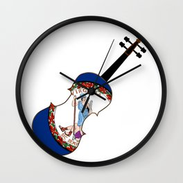 Virginia State Fiddle Wall Clock