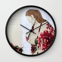 bond Wall Clocks featuring Bond by Suzanna Schlemm