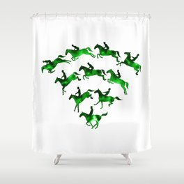 Connected to Showjumping (Green) Shower Curtain