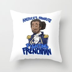America's Favorite Fighting Frenchman Throw Pillow