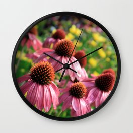 Coneflowers and Tickseed Wall Clock