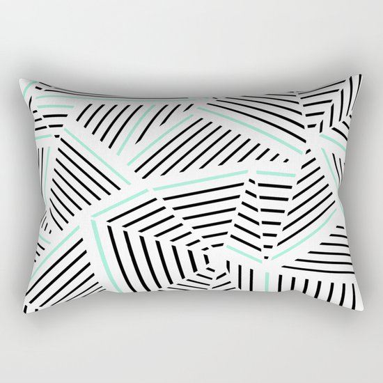 Ab Linear Zoom With Mint Rectangular Pillow