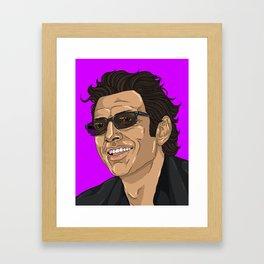 Jeff in Purple Framed Art Print