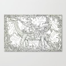Introduction to the doodle Canvas Print