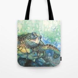 Sea Turtle Glides Tote Bag