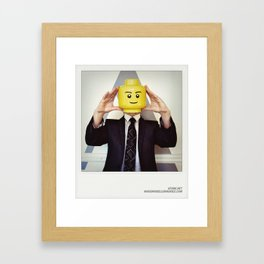 Minifig me ! – Everyone has a LEGO piece inside - 11 Framed Art Print