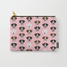 Boxers cute dog head boxer pattern must have gifts for dog lover with boxers Carry-All Pouch