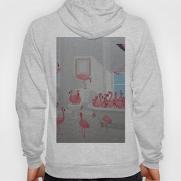 Flamingos In the Bathroom Hoody