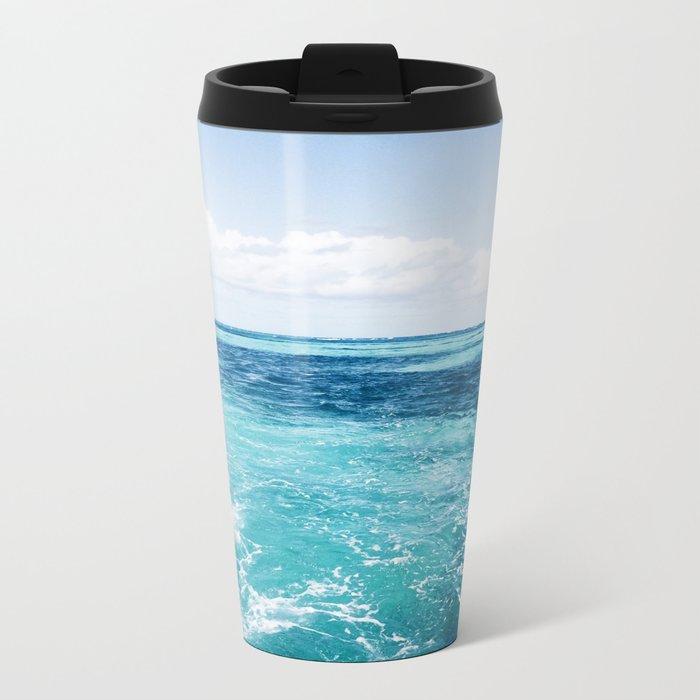 Sea Breeze Metal Travel Mug