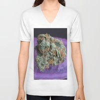 medical V-neck T-shirts featuring Jenny's Kush Medical Weed by BudProducts.us