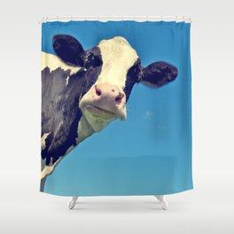 Country Life | Say Hello to Mrs. Cow Shower Curtain