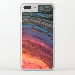 Rainbow Swirl Clear iPhone Case